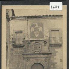 Postales: CACERES - CASA SOLARIEGA - EDICION EULOGIO BLASCO- (13.117). Lote 35662026