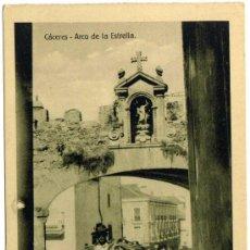 Postales: BONITA POSTAL - CACERES - ARCO DE LA ESTRELLA - AMBIENTADA - HOMBRE CON BURRO. Lote 36170682