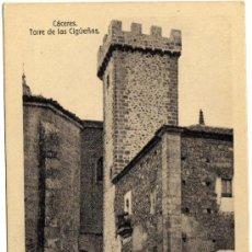 Postales: BONITA POSTAL - CACERES - TORRE DE LAS CIGÜEÑAS . Lote 36193302