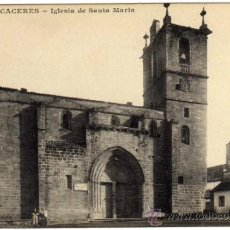 Postales: BONITA POSTAL - CACERES - IGLESIA DE SANTA MARIA - AMBIENTADA. Lote 36193834