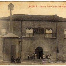 Postales: INTERESANTE POSTAL - CACERES - PALACIO DE LA CONDESA DE MAYORALGO - AMBIENTADA . Lote 36194354