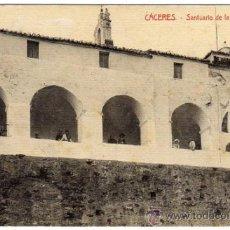 Postales: INTERESANTE POSTAL - CACERES - SANTUARIO DE LA MONTAÑA - AMBIENTADA . Lote 36195877