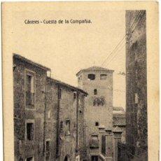 Postales: BONITA POSTAL - CACERES - CUESTA DE LA COMPAÑIA . Lote 36377824