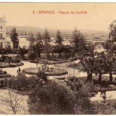 Postales: BONITA POSTAL - BADAJOZ - PARQUE DE CASTELAR - AMBIENTADA . Lote 36374720