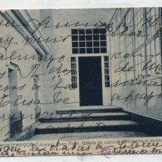 Postales: BAÑOS DE MONTEMAYOR. GRAN HOTEL .-GALERÍA DE COMUNICACIÓN ENTRE EL ASCENSOR Y LAS-. Lote 36497745