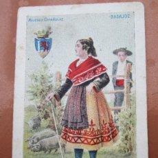 Postales: MUJERES ESPAÑOLAS , BADAJOZ , CIRCULADA - VER REVERSO - EDITA CALLEJA. Lote 36523964