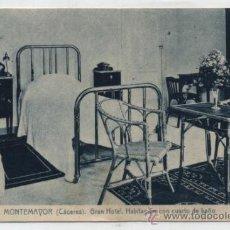 Postales: BAÑOS DE MONTEMAYOR. GRAN HOTEL.- HABITACIÓN CON CUARTO DE BAÑO. FRANQUEADO Y FE-. Lote 36563554