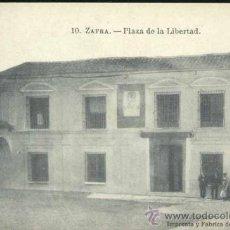 Postales: ZAFRA (BADAJOZ).- PLAZA DE LA LIBERTAD. Lote 36889036