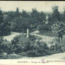Postales: BADAJOZ.- PARQUE DE CASTELAR. Lote 37342023