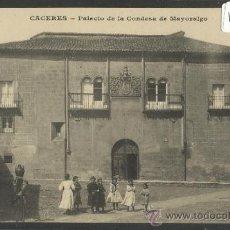 Postales: CACERES - PALACIO DE LA CONDESA DE MAYORALGO - J. BIENAIME - (16.441). Lote 37606702