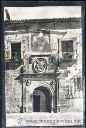 TARJ. POSTAL DE CACERES - PALACIO DE HERNANDO DE OVANDO. 6. HELIOTIPIA ARTISTICA ESPAÑOLA (Postales - España - Extremadura Antigua (hasta 1939))
