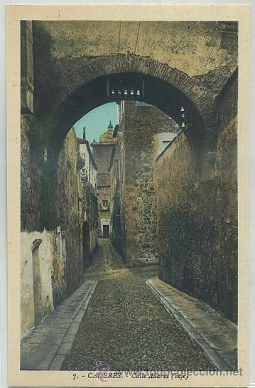 POSTAL ANTIGUA DE EXTREMADURA. CACERES. CASA DE ADARVE (BAJO) P-EXT-147 (Postales - España - Extremadura Antigua (hasta 1939))