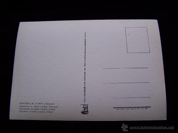 Postales: Postal sin circular Ed F.I.T.E.R Navalmoral de la Mata Cáceres Monumento d.Casto Lozano - Foto 2 - 41695562