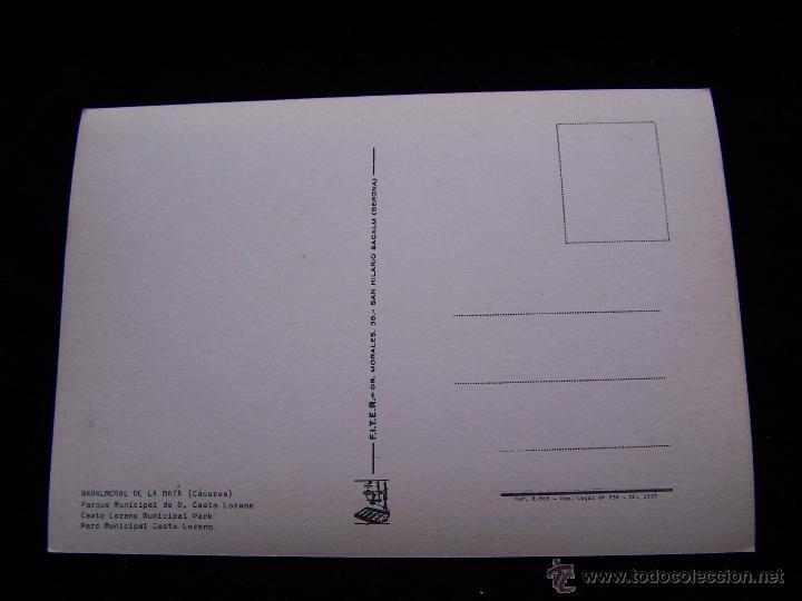 Postales: Postal sin circular Ed F.I.T.E.R Navalmoral de la Mata Cáceres Parque Municipal de D.Casto Lozano - Foto 2 - 41695850