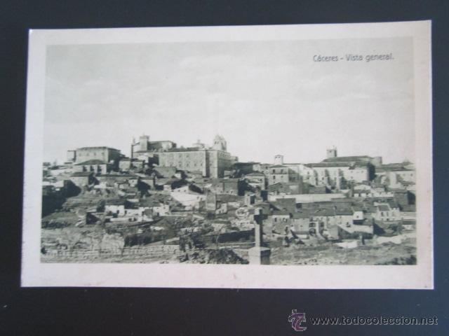 POSTAL CÁCERES. VISTA GENERAL. HELIOTIPIA DE KALLMEYER Y GAUTIER. (Postales - España - Extremadura Antigua (hasta 1939))