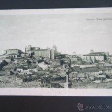 Postales: POSTAL CÁCERES. VISTA GENERAL. HELIOTIPIA DE KALLMEYER Y GAUTIER.. Lote 42084529
