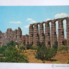 Postales: POSTAL BADAJOZ - MERIDA - ACUEDUCTO ROMANO LOS MILAGROS - 1964 - SIN CIRCULAR - GARCIA GARRABELLA 5. Lote 43865718