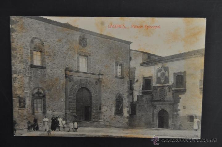 ANTIGUA POSTAL DE CACERES. PALACIO EPISCOPAL. ED. VIUDA DE MANUEL CILLEROS. SIN CIRCULAR (Postales - España - Extremadura Antigua (hasta 1939))