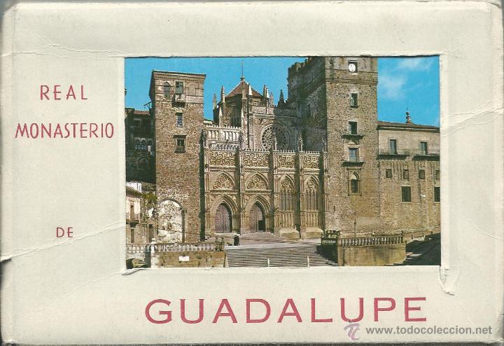 POSTALES BLOC DE 10 TARJETAS DEL REAL MONASTERIO DE GUADALUPE EN CACERES (Postales - España - Extremadura Moderna (desde 1940))