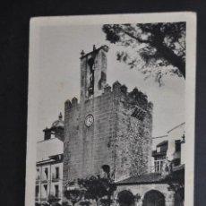 Postales: ANTIGUA POSTAL DE CACERES. TORRE DE ABU- JACOB (BUJACO). SIGLO XII. ED. M. ARRIBAS. ESCRITA. Lote 44200527