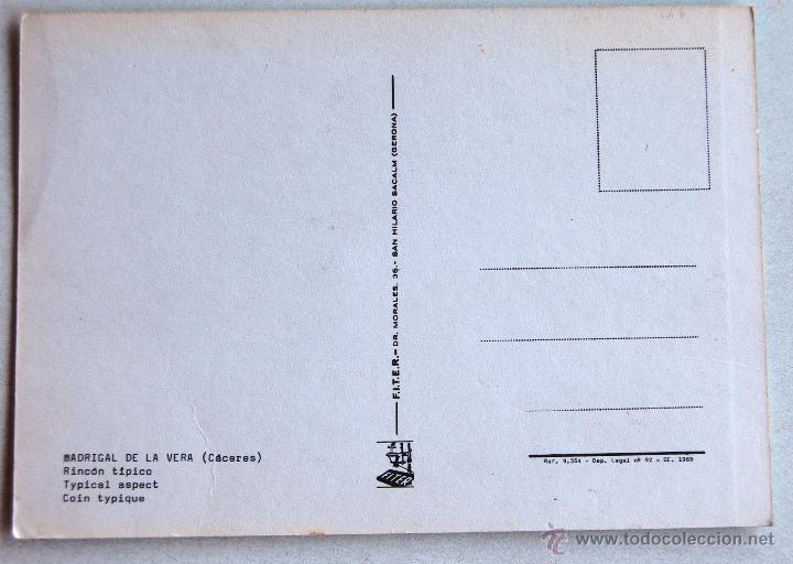 Postales: POSTAL DE MADRIGAL DE LA VERA (CACERES). - Foto 2 - 44245171