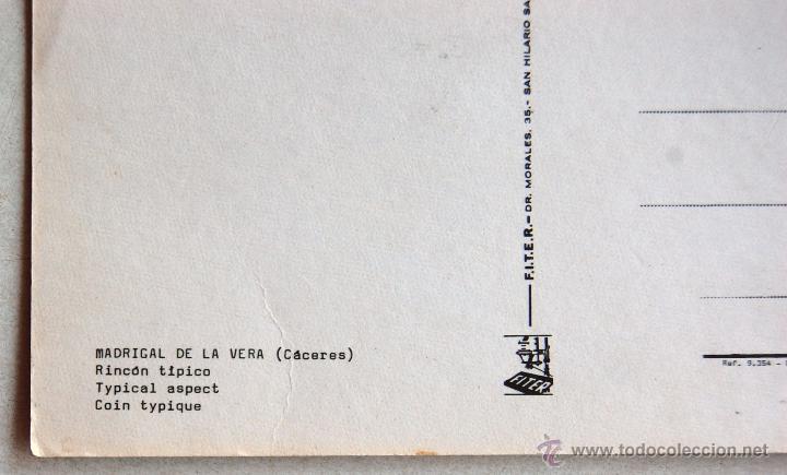 Postales: POSTAL DE MADRIGAL DE LA VERA (CACERES). - Foto 3 - 44245171
