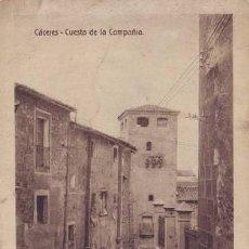 Postales: CACERES. CUESTA DE LA COMPAÑÍA.. Lote 44716663