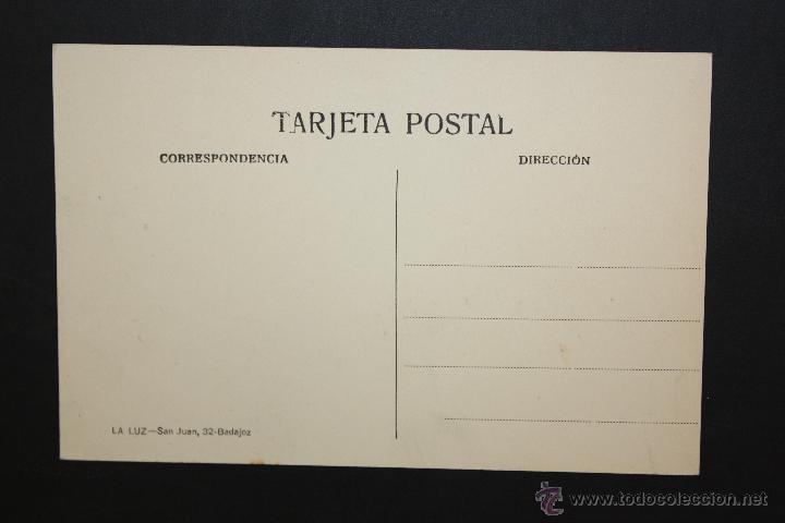Postales: ANTIGUA POSTAL DE BADAJOZ. PUERTA PALMAS. ED. LA LUZ. SIN CIRCULAR - Foto 2 - 45957148