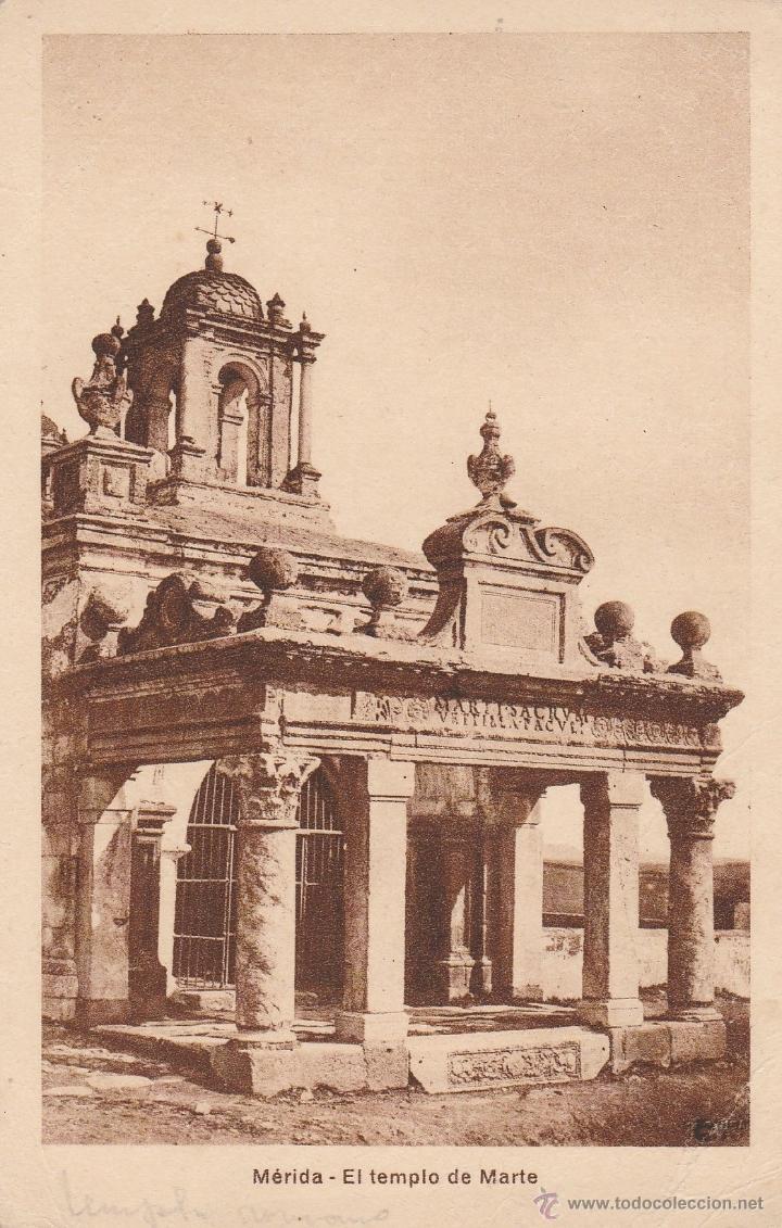 Nº 16812 POSTAL MERIDA BADAJOZ EL TEMPLO DE MARTE (Postales - España - Extremadura Antigua (hasta 1939))
