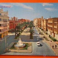 Postales: POSTAL - BADAJOZ - AVENIDA GENERAL VARELA - ARRIBAS - CIRCULADA. Lote 114321815