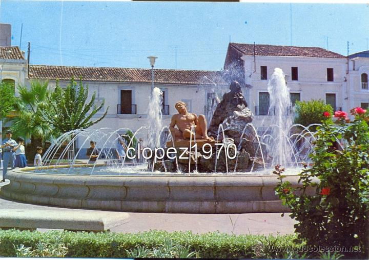 DON BENITO, BADAJOZ, FUENTE LUMINOSA, EDIT. FITER (Postales - España - Extremadura Moderna (desde 1940))