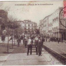 Postales: PC-60 CÁCERES PLAZA DE LA CONSTITUCIÓN . Lote 48941659