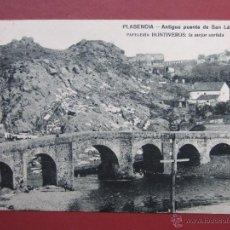 Postales: PLASENCIA. ANTIGUO PUENTE DE SAN LAZARO. PAPELERIA HONTIVEROS. HUECOGRABADO MUMBRU.. Lote 49637683