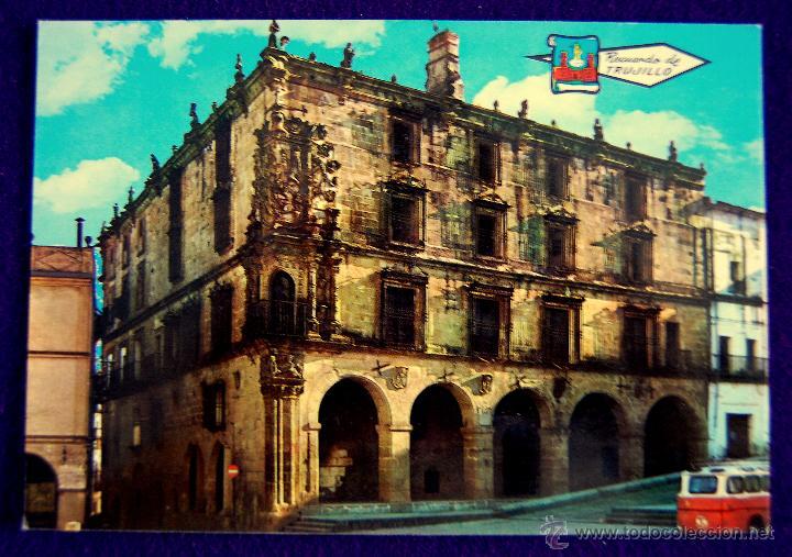 POSTAL DE TRUJILLO (CACERES). PALACIO DE PIZARRO. AÑOS 60 (Postales - España - Extremadura Moderna (desde 1940))