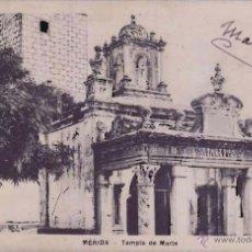Postales: MERIDA (BADAJOZ), COLECCION VINUESA, TEMPLO DE MARTE. Lote 49926428