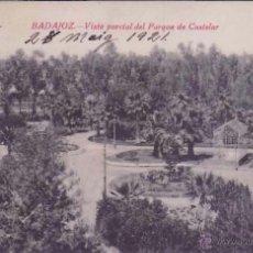 Postales: BADAJOZ, CASTIÑEIRA, PARQUE DE CASTELAR. Lote 49937369