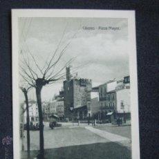 Postales: POSTAL CÁCERES. PLAZA MAYOR. EDICIÓN EULOGIO BLASCO. HELIOTIPIA ARTÍSTICA IBÉRICA, TORRIJOS. . Lote 51119329