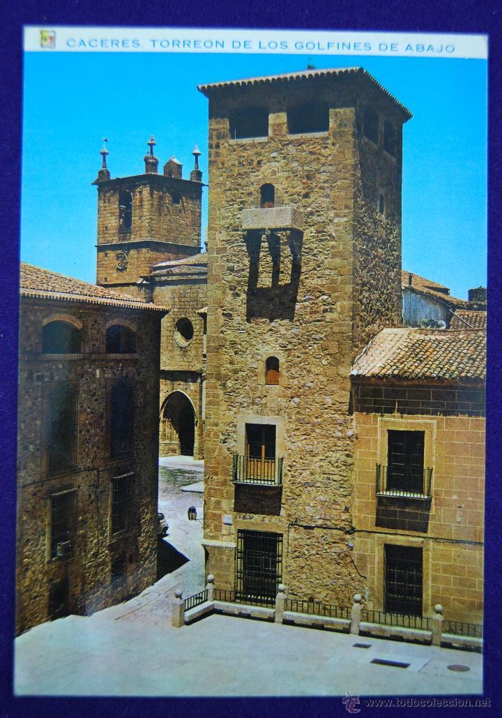 POSTAL DE CACERES. Nº28 TORREON DE LOS GOLFINES DE ABAJO. AÑOS 60 (Postales - España - Extremadura Moderna (desde 1940))