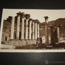 Postales: MERIDA BADAJOZ COLUMNAS DEL TEATRO ROMANO. Lote 52560695