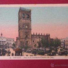 Postales: BADAJOZ, ROISIN, Nº 4 PLAZA DE LA CONSTITUCION (CATEDRAL DE SAN JUAN). Lote 52746998