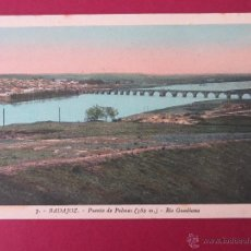 Postales: BADAJOZ - PUENTE DE PALMAS - RIO GUADIANA - FOTO ROISIN Nº7.. Lote 52747044