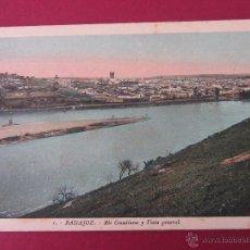 Postales: BADAJOZ. RIO GUADIANA Y VISTA GENERAL. L. ROISIN Nº1.. Lote 61909232