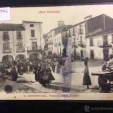 Postales: MONTANCHEZ - 10 - CASA NOGALES - PLAZA - ED· MANUEL BARREIRO - (38861). Lote 52868118