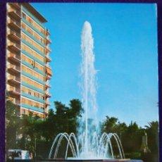 Postales: POSTAL DE CACERES. AVENIDA DE ESPAÑA, FUENTE LUMINOSA. AÑOS 60.. Lote 53046573