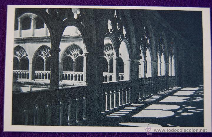 POSTAL DEL MONASTERIO DE GUADALUPE (CACERES). CLAUSTRO GOTICO . AÑOS 40. (Postales - España - Extremadura Moderna (desde 1940))
