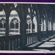 Postales: POSTAL DEL MONASTERIO DE GUADALUPE (CACERES). CLAUSTRO GOTICO . AÑOS 40.. Lote 53047850