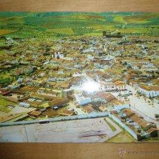 Postales: ANTIGUA POSTAL BADAJOZ - ZALAMEA DE LA SERENA - VISTA PARCIAL DESDE NORTE. PISTA EXAMENES CONDUCIR. Lote 53216800