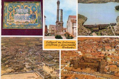 ANTIGUA POSTAL BADAJOZ - ZALAMEA HISTORICA Y MONUMENTAL - FOTO ZACARIAS (Postales - España - Extremadura Moderna (desde 1940))