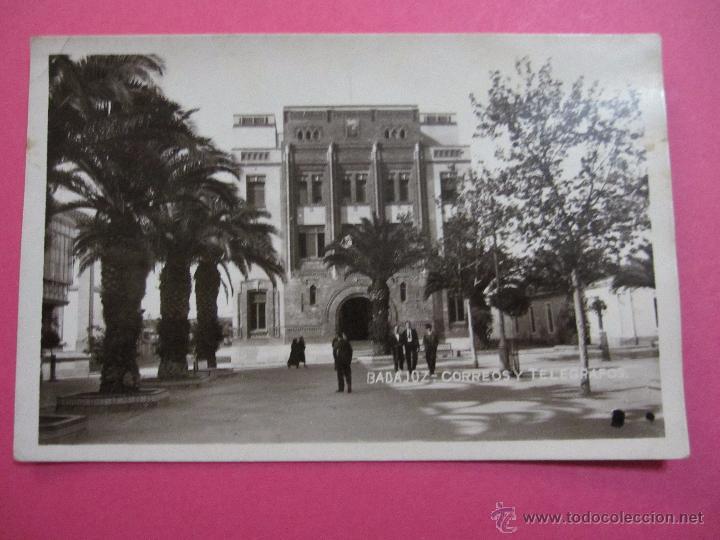 POSTAL ANTIGUA BADAJOZ PLAZA SAN FRANCISCO CORREOS Y TELEGRAFOS (Postales - España - Extremadura Antigua (hasta 1939))