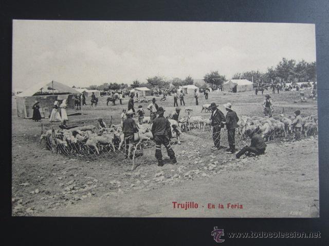 POSTAL CÁCERES. TRUJILLO. EN LA FERIA. A. DURÁN (Postales - España - Extremadura Antigua (hasta 1939))
